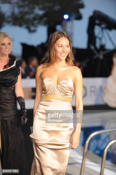 Jessica Michibata girlfriend of Jenson Button during the Fashion Show at The Amber Lounge Le Meridien Beach Plaza Hotel Monaco