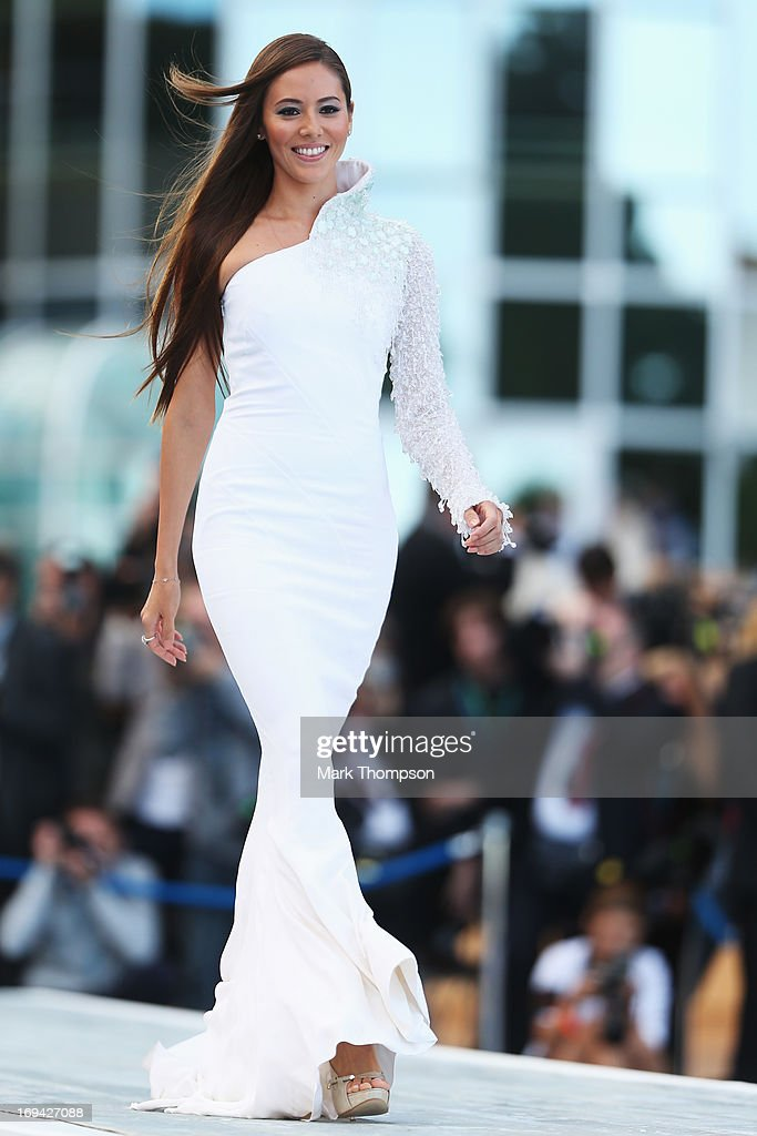 Jessica Michibata the girlfriend of Jenson Button of Great Britain and McLaren attends the Amber Lounge Charity Fashion event at Le Meridien Beach Plaza Hotel on May 24, 2013 in Monaco, Monaco.