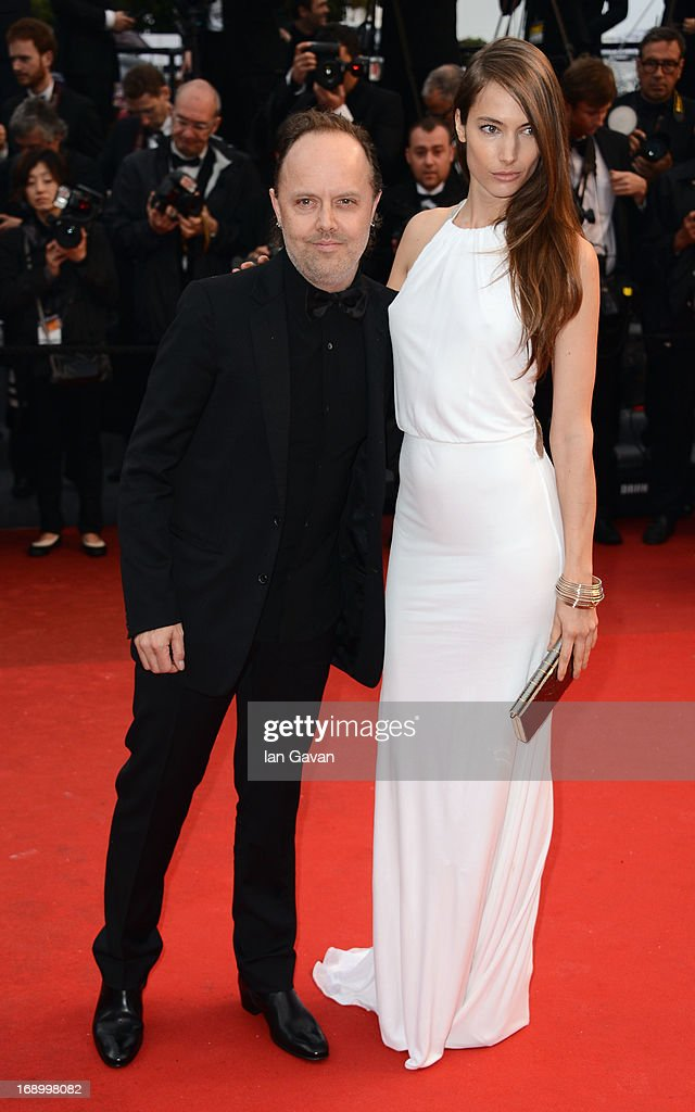 Jessica Miller and Lars Ulrich attend 'Jimmy P. (Psychotherapy Of A Plains Indian)' Premiere during the 66th Annual Cannes Film Festival at Grand Theatre Lumiere on May 18, 2013 in Cannes, France.
