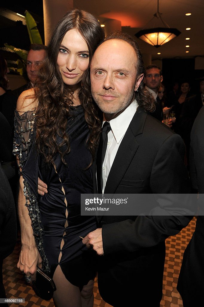 Jessica Miller and Lars Ulrich attend the 56th annual GRAMMY Awards Pre-GRAMMY Gala and Salute to Industry Icons honoring Lucian Grainge at The Beverly Hilton on January 25, 2014 in Los Angeles, California.
