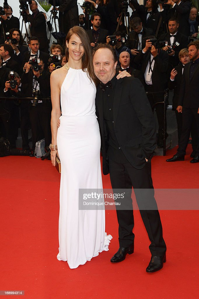 Jessica Miller and Lars Ulrich attend the Premiere of 'Jimmy P ' at Palais des Festivals during The 66th Annual Cannes Film Festival on May 18 2013...