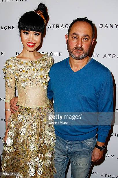 Jessica Minh Anh and Designer Dany Atrache attend the Dany Atrache Spring Summer 2016 show as part of Paris Fashion Week on January 25 2016 in Paris...