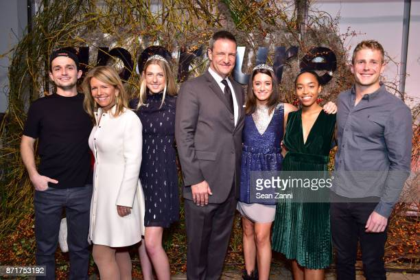 Jessica Nagle Thane Kerner Uma Bates with Guests attend the Aperture Gala 'Elements of Style' at IAC Building on October 30 2017 in New York City