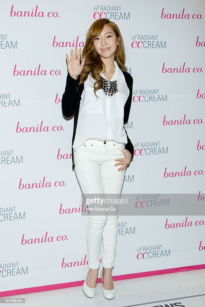 Jessica of Girls' Generation attends a promotional event for the 'Banila co.' Beauty Talk Show With Jessica Of Girls' Generation at Lotte Department Store on February 12, 2013 in Seoul, South Korea.