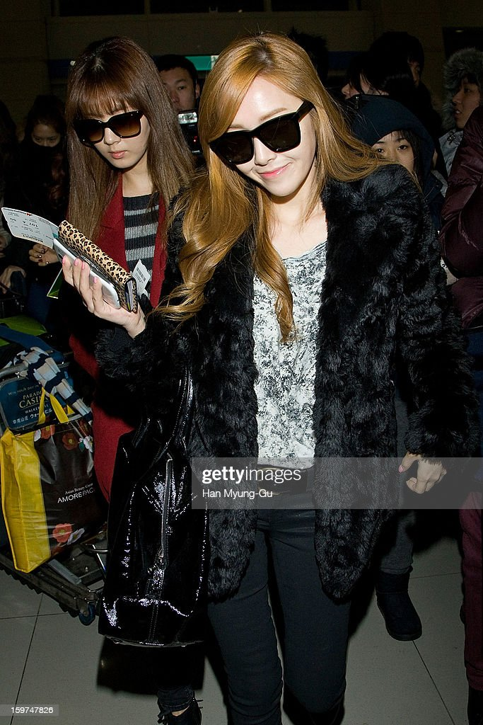 Jessica of South Korean girl group Girls' Generation is seen at Incheon International Airport on January 19, 2013 in Incheon, South Korea.