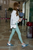 Jessica of South Korean girl group Girls' Generation is seen on departure at Gimpo International Airport on May 29 2014 in Seoul South Korea
