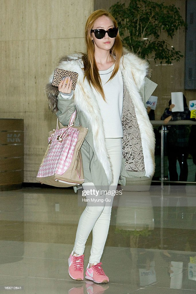 Jessica of South Korean girl group Girls' Generation is seen upon arrival from Japan at Gimpo International Airport on March 6, 2013 in Seoul, South Korea.