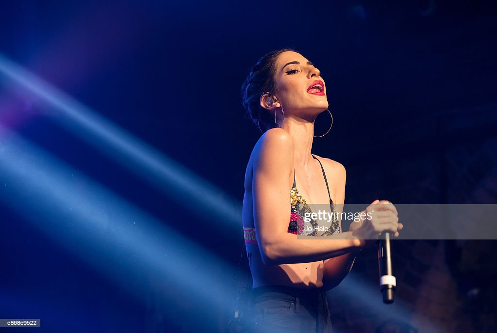 Jessica Origliasso of Australian Pop Punk Duo The Veronicas performs at GAY on August 6 2016 in London England