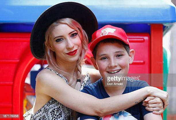 Jessica Origliasso of The Veronicas meets Hunter Lawson at Ronald McDonald House on McHappy Day November 7 2013 in Sydney Australia The Veronicas are...