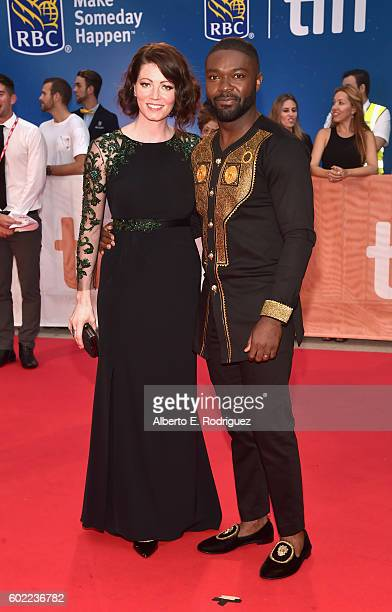 "Jessica Oyelowo and actor David Oyelowo arrive at the world premiere of Disney's ""Queen of Katwe"" at Roy Thompson Hall as part of the 2016 Toronto..."