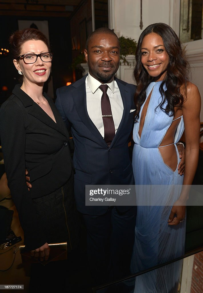 Jessica Oyelowo and actors <a gi-track='captionPersonalityLinkClicked' href=/galleries/search?phrase=David+Oyelowo&family=editorial&specificpeople=633075 ng-click='$event.stopPropagation()'>David Oyelowo</a> and <a gi-track='captionPersonalityLinkClicked' href=/galleries/search?phrase=Naomie+Harris&family=editorial&specificpeople=238918 ng-click='$event.stopPropagation()'>Naomie Harris</a> attend the after party for 'The Weinstein Company Presents The LA Premiere Of 'Mandela: Long Walk To Freedom' Supported By Burberry' at Warwick on November 11, 2013 in Los Angeles, California.