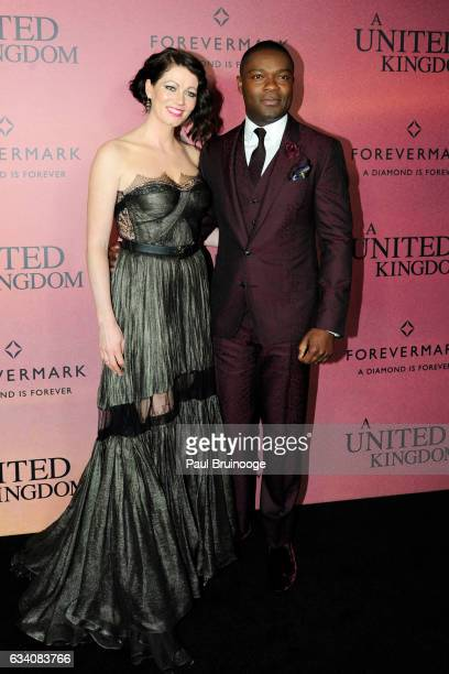 Jessica Oyelowo and David Oyelowo attend Forevermark Presents the World Premiere of Fox Searchlight's 'A United Kingdom' at The Paris Theatre on...