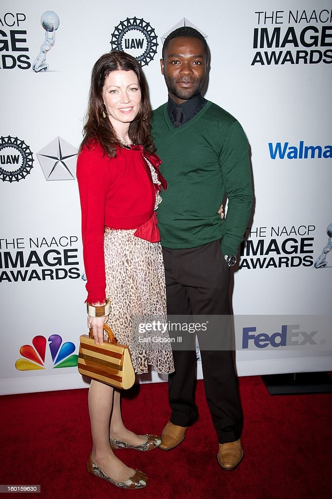 Jessica Oyelowo and husband David Oyelowo attend the NAACP Image Awards Nominee's Luncheon at Montage Beverly Hills on January 26, 2013 in Beverly Hills, California.