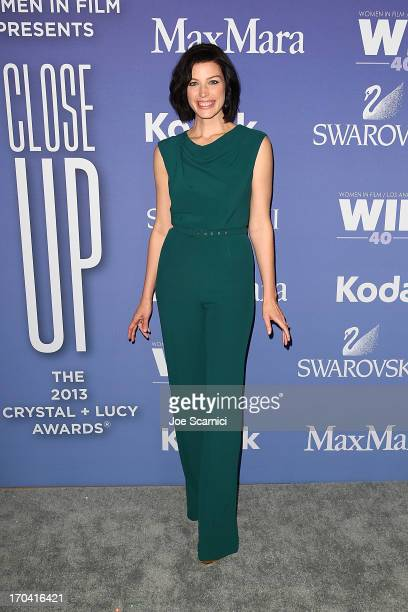 Jessica Pare arrives at the 2013 Women in film's Crystal Lucy Awards at The Beverly Hilton Hotel on June 12 2013 in Beverly Hills California