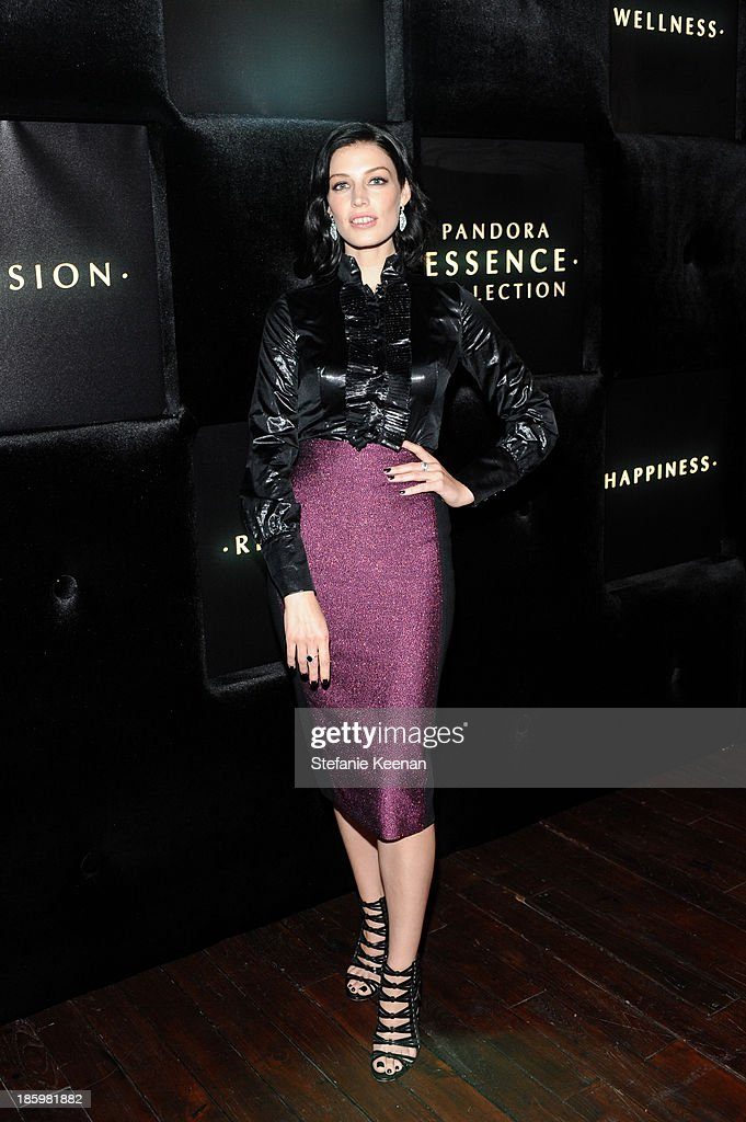 Jessica Pare attends PANDORA ESSENCE COLLECTION North America Launch Party at SkyBar at the Mondrian Los Angeles on October 26, 2013 in West Hollywood, California.