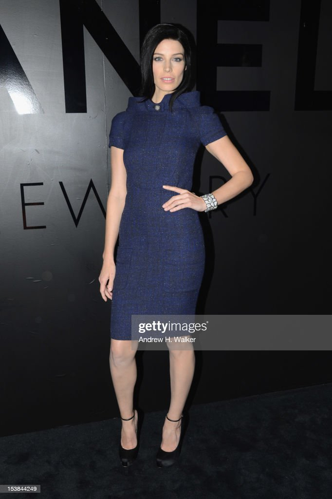 Jessica Pare attends the celebration of CHANEL FINE JEWELRY'S 80th anniversary of the 'Bijoux De Diamants' collection created by Gabrielle Chanel on October 9, 2012 in New York City.