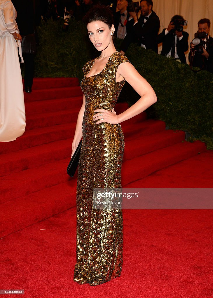 Jessica Pare attends the 'Schiaparelli And Prada: Impossible Conversations' Costume Institute Gala at the Metropolitan Museum of Art on May 7, 2012 in New York City.