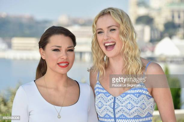 Jessica Parker Kennedy and Hannah New attend a photocall for the TV Show ' Black Sails' as part of the 54th MonteCarlo Television Festival on June 10...