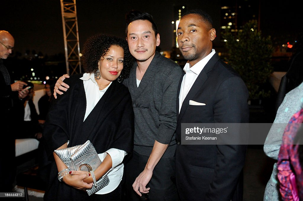 Jessica Plair Sirmans, Glenn Kaino and Franklin Sirmans attend The Mistake Room's Benefit Auction on October 13, 2013 in Los Angeles, California.