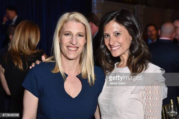 Jessica Pliska and Nora Weinstein attend The Opportunity Network's 10th Annual Night of Opportunity Gala at Cipriani Wall Street on April 24 2017 in...