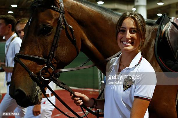 Jessica Rae Springsteen attends 2nd Annual Longines Masters Of Los Angeles at Los Angeles Convention Center on October 1 2015 in Los Angeles...