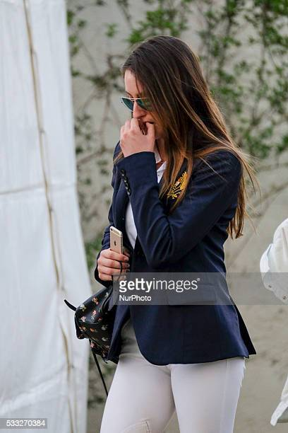 Jessica Rae Springsteen attends Global Champions Tour Horse Tournament on May 20 2016 in Madrid Spain