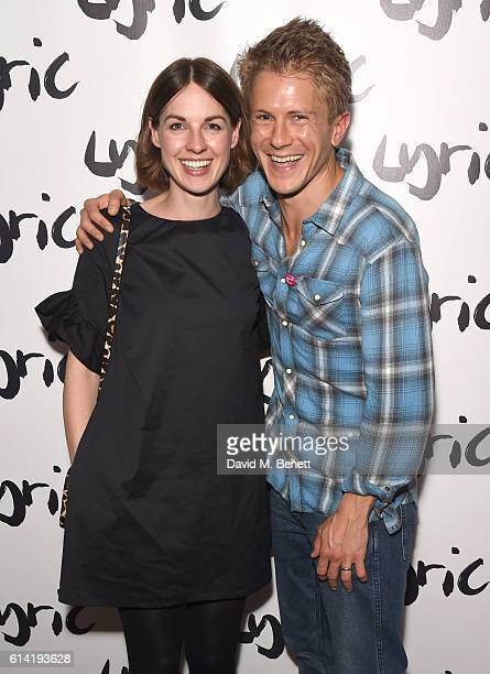 Jessica Raine and George Rainsford attend the press night performance of 'Shopping And Fucking' at The Lyric Hammersmith on October 12 2016 in London...