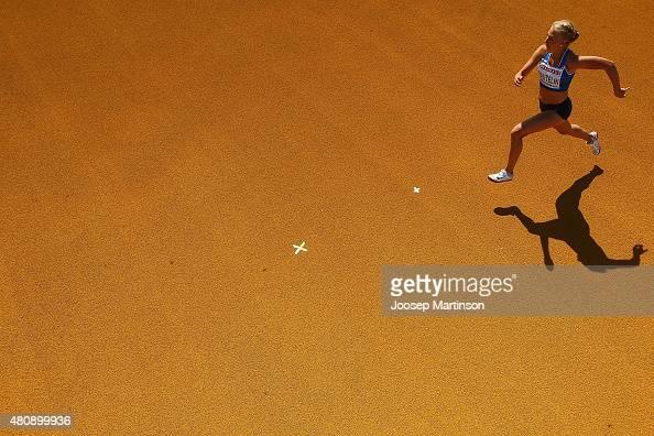 Jessica Rautelin of Finland competes during the Women's Heptathlon High Jump at Ekangen Arena on July 16 2015 in Eskilstuna Sweden
