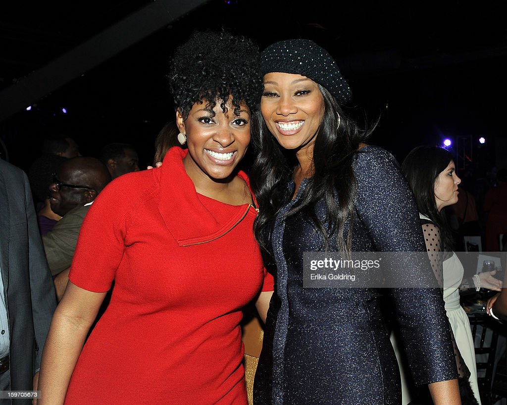 Jessica Reedy and <a gi-track='captionPersonalityLinkClicked' href=/galleries/search?phrase=Yolanda+Adams&family=editorial&specificpeople=206858 ng-click='$event.stopPropagation()'>Yolanda Adams</a> attend the 14th annual BMI Trailblazers of Gospel Music Awards at Rocketown on January 18, 2013 in Nashville, Tennessee.