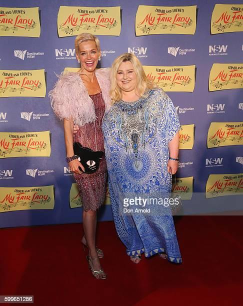 Jessica Rowe and Lara Mulcahy arrives ahead of My Fair Lady opening night at Sydney Opera House on September 6 2016 in Sydney Australia