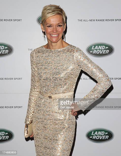 Jessica Rowe arrives at a Range Rover Sport launch event at the Overseas Passenger Terminal on July 29 2013 in Sydney Australia