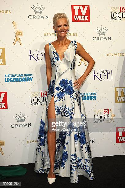 Jessica Rowe arrives at the 58th Annual Logie Awards at Crown Palladium on May 8 2016 in Melbourne Australia