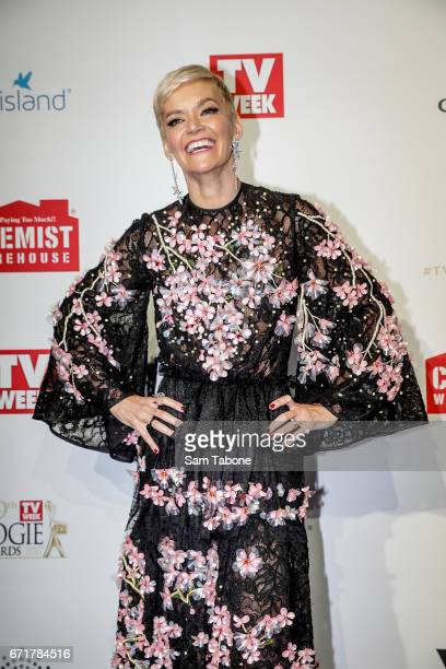 Jessica Rowe arrives at the 59th Annual Logie Awards at Crown Palladium on April 23 2017 in Melbourne Australia