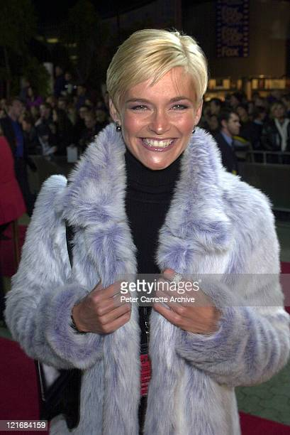Jessica Rowe arrives for the premiere of the film 'Mission Impossible 2' at Fox Studios on May 30 2000 in Sydney Australia