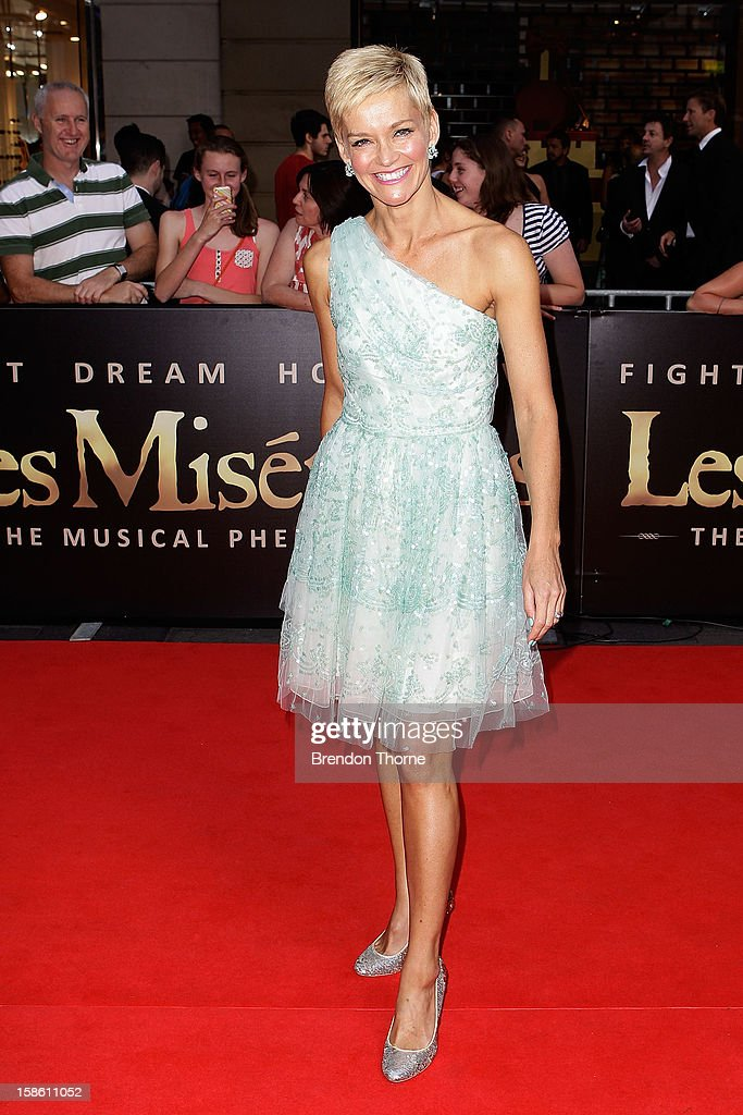 Jessica Rowe walks the red carpet during the Australian premiere of 'Les Miserables' at the State Theatre on December 21, 2012 in Sydney, Australia.