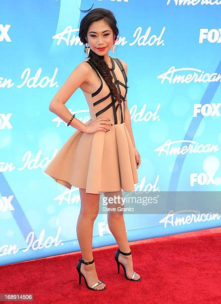 Jessica Sanchez arrives at the FOX's 'American Idol' Grand Finale at Nokia Theatre LA Live on May 16 2013 in Los Angeles California