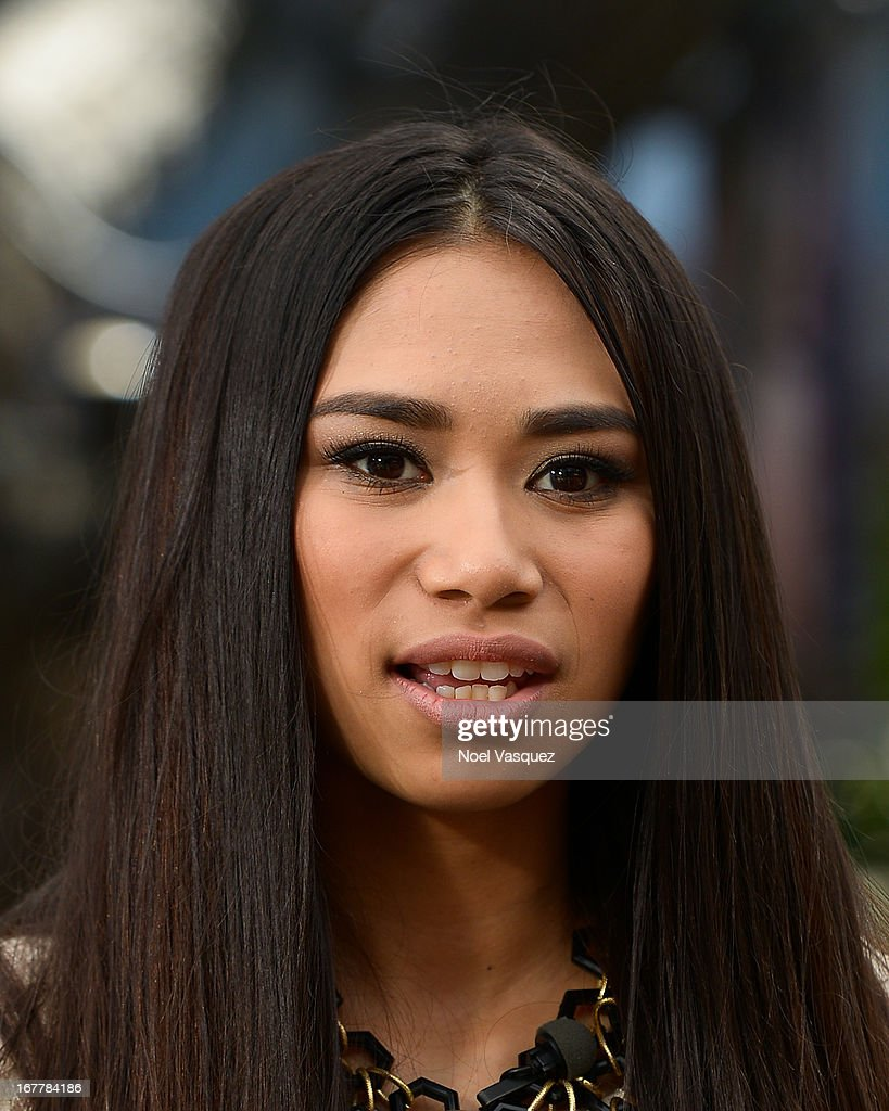 Jessica Sanchez visits 'Extra' at The Grove on April 29, 2013 in Los Angeles, California.