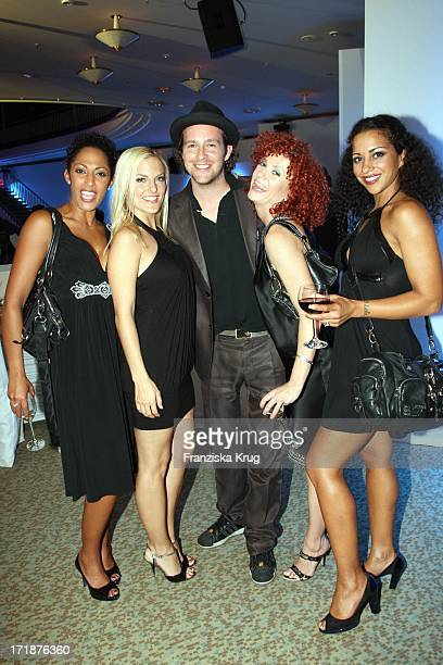 Jessica Sandy Nadja From Lucy And The No Angels With Singer Ben at The IFA Opening Gala at the Palais am Funkturm in Berlin