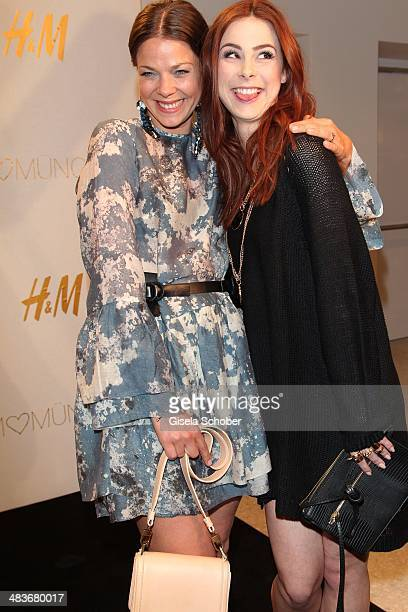 Jessica Schwarz and Lena MeyerLandrut attend the HM store opening on April 9 2014 in Munich Germany