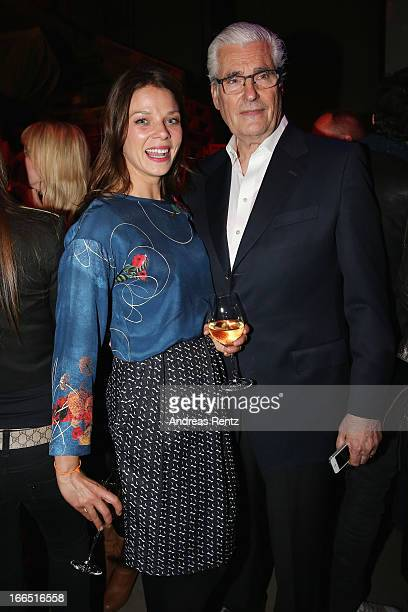 Jessica Schwarz and Sky Du Mont attend the Jaguar FType short film 'The Key' Premiere at eWerk on April 13 2013 in Berlin Germany