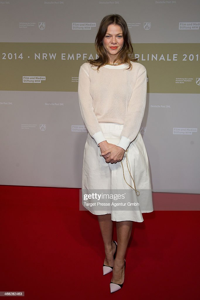 Jessica Schwarz attends the NRW Reception at the Landesvertretung on February 9, 2014 in Berlin, Germany.