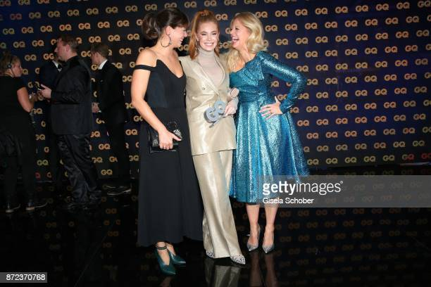 Jessica Schwarz Palina Rojinski and Barbara Schoeneberger during the show of the GQ Men of the year Award 2017 at Komische Oper on November 9 2017 in...