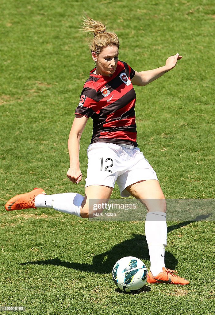 Jessica Seaman of the Wanderers in action during the round six W-League match between the Western Sydney Wanderers and the Newcastle Jets at Campbelltown Sports Stadium on November 25, 2012 in Sydney, Australia.