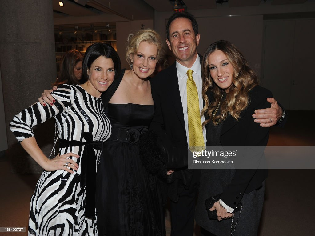 Jessica Seinfeld, Ali Wentworth, Jerry Seinfeld and Sarah Jessica Parker attend the book launch party for Ali Wentworth's new book 'Ali In Wonderland' at Sotheby's on February 6, 2012 in New York City.