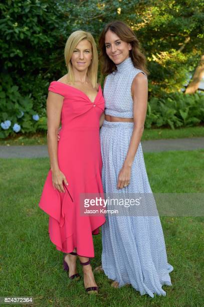 Jessica Seinfeld and Alison Loehnis attend The GOOD Foundation's Hamptons Summer Dinner cohosted by NETAPORTER on July 29 2017 in East Hampton New...