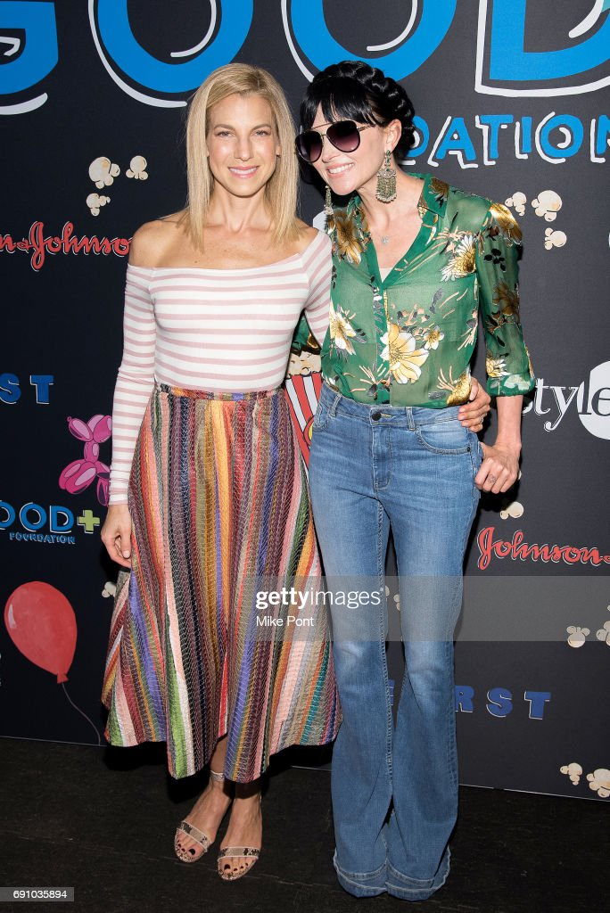 Jessica Seinfeld and designer Stacey Bendet Eisner attend the 2017 Good+ Foundation NY Bash at Victorian Gardens at Wollman Rink Central Park on May 31, 2017 in New York City.