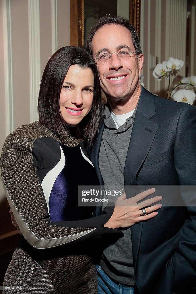 Jessica Seinfeld and husband Jerry Seinfeld attend the Stella McCartney Autumn 2013 Presentation at 680 Park Avenue on January 8, 2013 in New York City.