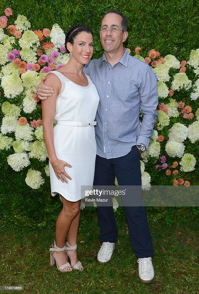<a gi-track='captionPersonalityLinkClicked' href=/galleries/search?phrase=Jessica+Seinfeld&family=editorial&specificpeople=206558 ng-click='$event.stopPropagation()'>Jessica Seinfeld</a> and <a gi-track='captionPersonalityLinkClicked' href=/galleries/search?phrase=Jerry+Seinfeld&family=editorial&specificpeople=210541 ng-click='$event.stopPropagation()'>Jerry Seinfeld</a> attend the Baby Buggy Summer Dinner hosted by Jessica and <a gi-track='captionPersonalityLinkClicked' href=/galleries/search?phrase=Jerry+Seinfeld&family=editorial&specificpeople=210541 ng-click='$event.stopPropagation()'>Jerry Seinfeld</a> and rag & bone on July 27, 2013 in East Hampton, New York.