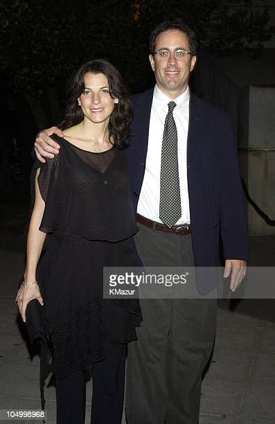 Jessica Seinfeld and Jerry Seinfeld during 2002 Tribeca Film Festival Vanity Fair Party at The State Supreme Courthouse in New York City New York...