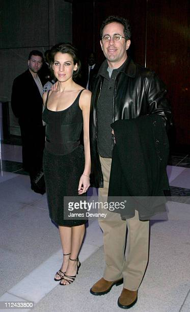 Jessica Seinfeld and Jerry Seinfeld during Olympus Fashion Week Fall 2004 Narciso Rodriguez After Party at Per Se Time Warner Building in New York...